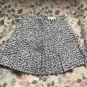 Michael Kors Black And White Skirt